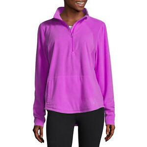 Xersion Brushed Fleece Half Zip Pullover New Size S Fun Purple