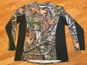 Mossy Oak Obsession Camo Hunting Shirt Men's Large L long sleeve
