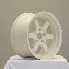 4 ROTA WHEEL GRID V 16X8 5X114.3 20 WHITE  CIVIC INTEGRA PRELUDE LAST SET