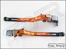 1999 - 2003 Ducati 996 / 998 / B / S / R CNC Folding Adjustable Levers - Orange