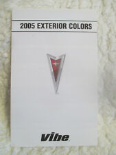 05 2005 Pontiac Vibe Exterior Colors Folder Including Paint Chip Chips and Names