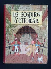 Album Hergé Tintin Le sceptre d'Ottokar B1 1947 BON ETAT