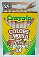 🖍 Crayola Colors of the World Multicultural Crayons 24 Pack Diversity NIB