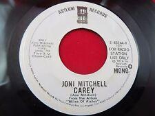 JONI MITCHELL CAREY/JERICHO 1974 ASYLUM E45244Y MONO PROMO