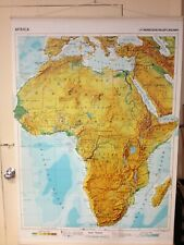 Karl Wenschow Large Wall Map of Africa 58 by 39