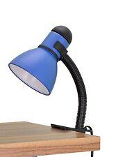 "Aspen Creative 40038-3, 1-Light 16"" High Clip Metal Lamp, Black & Blue"