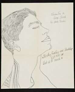 1956 Andy Warhol Original Bodley Gallery Announcement Studies for a Boy