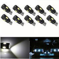 10pcs Canbus T10 LED Light 5730 6SMD Error Free White 12V Bulbs W5W 168 501 Lens
