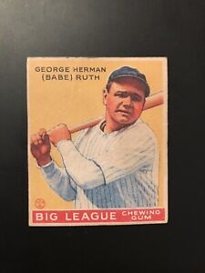 1933 Goudey #53 Babe Ruth Baseball Card (Not Graded PSA/ Others)