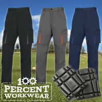 Delta Plus Mach2 Polycotton Mens Cargo Work Trousers Pants Knee Pad Pockets New