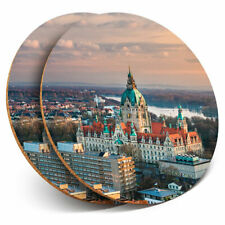 2 x Coasters - City Hall Hanover Germany Home Gift #3197