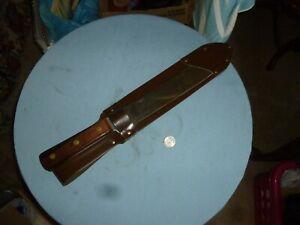 VINTAGE  {OLSEN??} 18 INCH MACHETE TYPE KNIFE W/SHEATH