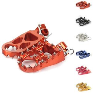 WIDE FAT FOOT PEGS FOOTREST FOR KTM 65 SX EXC SX-F EXC-F 125 250 300 450 520 525