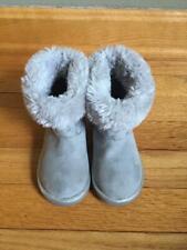 Disney Frozen Toddler Girl's Gray Sparkle Boots Sz. 6 Euc