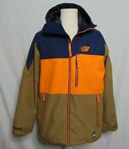 O'Neill Snow Outerwear Parka Mens L Snowboard Hyperdry Hooded Waterproof Visible