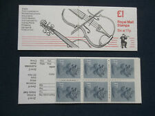Fh5 Musical Instruments Violin £1 Machin Stamp Booklet Ufb42