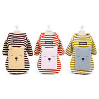 Striped Winter Dog Hoodie Coat Warm Pet Clothes Chihuahua Apparel Cat Costume