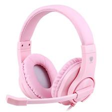 Pink Gaming Headset Girls Mic PS4 Xbox 1 PSN 360 3DS Nintendo Switch PC Mac Chat
