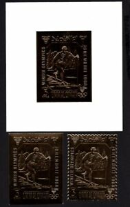 Olympic United Arab Emirates 1968 block of stamps Mi#A242(A+B),bl.A12 MNH CV=42€