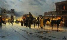 Santa Fe - End of the Trail  -G Harvey -Signed & Number-LTD EDITION ARTIST Proof