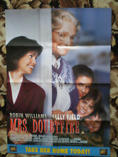 "MRS DOUBTFIRE FILM POSTER   16 1/2"" x 23"" - ROBIN WILLIAMS"