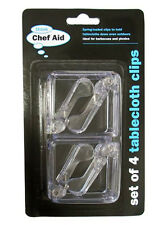 Chef Aid Set Of 4 Tablecloth Clips Table Cloth Camping Picnics Barbecues BBQ
