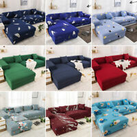 Elastic Stretch Sofa Covers Slipcover Protector L-Shape Sectional Settee Cover