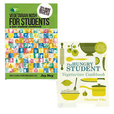 The Hungry Student Vegetarian Cookbook 2 Books Collection Set BrandNew Paperback