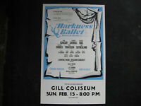"1970 HARKNESS BALLET Concert Poster Window Card 14x22"" vintage LAWRENCE RHODES"