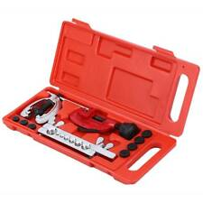 Heavy Duty Air Line 7 Dies Double Flare Flaring Tool Kit Set Brake Cutter Pipe