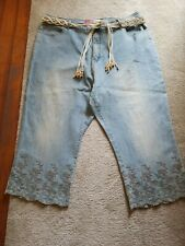 Women's Lazer Denim Cropped Capris  Pants, vintage, size 24 women's plus