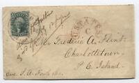 1859 Woburn MA 10ct #32 to Prince Edward Island [y1402]