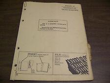 12123 John Deere Parts Catalog Pc-612 Spreader W series dated 7 64