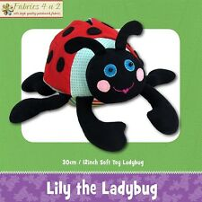 Lily Ladybug Softie Toy Cute Boys Girl - Sewing PATTERN Funky Friends Factory