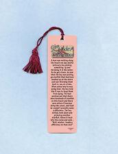 """You Made A Difference""  Poem on Tassel Bookmark (magenta tassel) - Sku# 834"