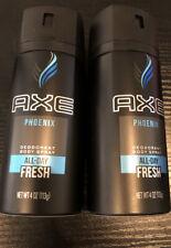 2 Pack Phoenix  Axe Daily Fragrance Spray  4 oz each  Free Shipping