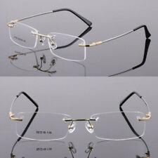 Gold Rimless Flexible Lightweight Eyeglass Frames Glasses Myopia Eyewear Rx able