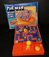 Tomy Pac Man Magnetic Maze Arcade Board Game Timer Retro Ghost Inky 1980s VTG