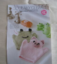 07577515128 Squeaky Clean Frog   Pig Childrens Wash Mitts Knitting Pattern