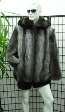 NEW REFURBISHED RACCOON RACOON & BLACK FOX FUR BOMBER JACKET COAT MEN MAN SZ ALL