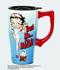 Betty Boop Nurse Ceramic Coffee Travel Mug, Plastic Lid, NIB [12031] Spoontiques