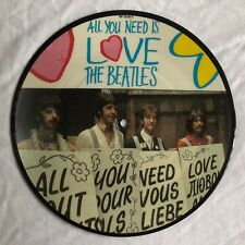 "BEATLES - All You Need Is Love -Rare UK Anniversary 7"" Picture Disc (Vinyl)"