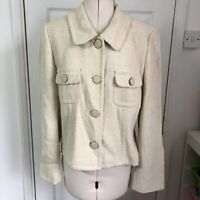 Phase Eight Cream Coat Jacket Size 16 Wedding Mother of Bride