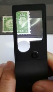 Multifunctional Magnifier for Stamps & Coins from 3x - 55x
