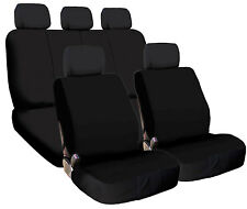 New Basic Black Color Cloth Universal Fit Car Seat Covers Set Support Split Seat