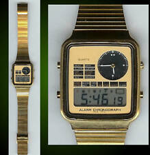 NOS Dual Time Gold Tone Watch
