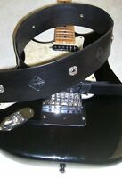 """Custom Leather Guitar Strap 2 3/4""""wide,Celtic Concho and Tooled,Black,Adj.46-51"""""""