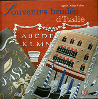 Livre souvenirs brodés d'Italie  Agnès Delage book