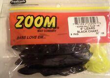 "BRAND NEW ZOOM 6"" LIZARD (BLACK CHARTREUSE)"