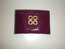NWT COACH Julia Patent Leather Card Case  Purple # 46725